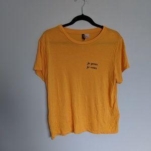 H&M yellow t shirt